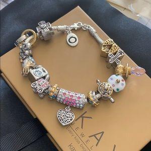 Jewelry - NWOT! Pandora bracelet  charms included